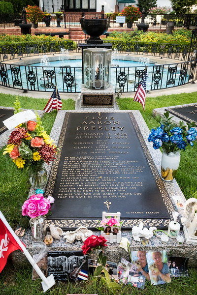 Elvis Presley's gravesite adored with flowers