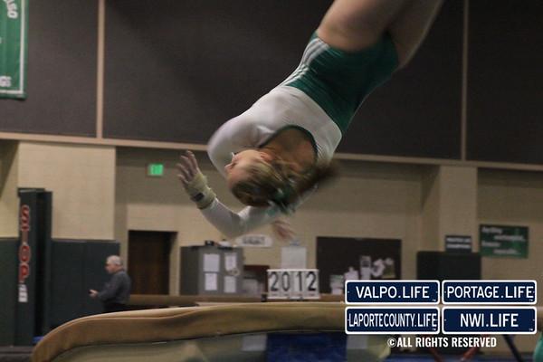 VHS Gymnastics vs Merrillville 2-16-2012