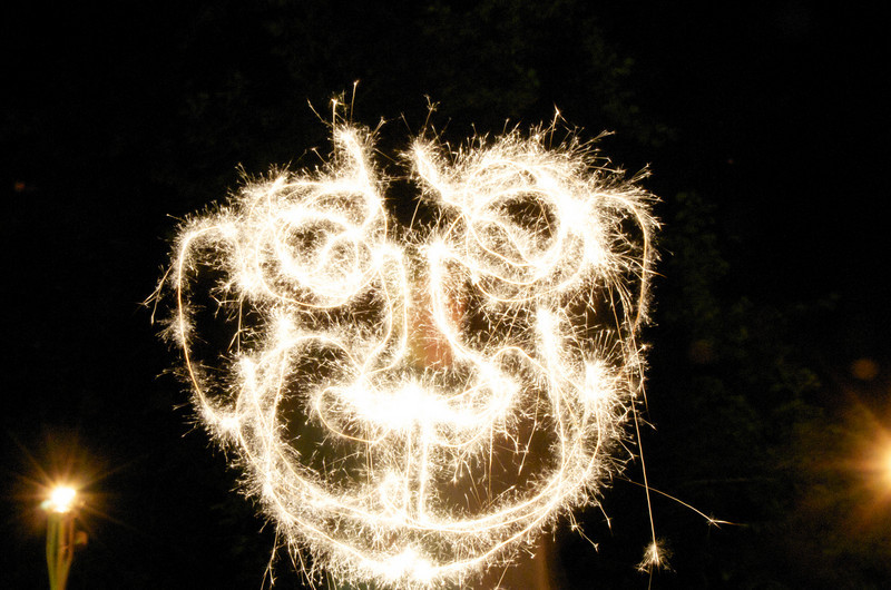Light drawing by Natalie drawn with a sparkler