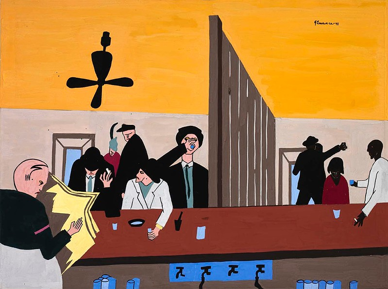 "Jacob Lawrence, ""Bar and Grill"" (1941)"