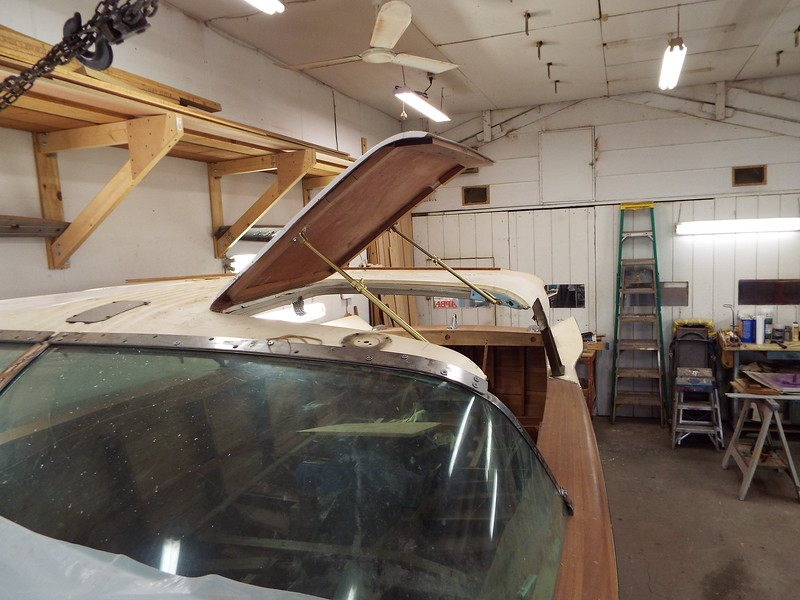 Port gull wing held open with the new door supports that made at our shop. These support are an exact copy of the originals which are not available.