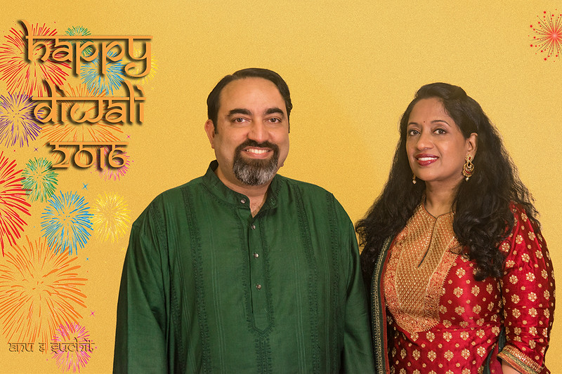 Happy Diwali (Deepavali) greetings from Anu and Suchit Nanda, 2016