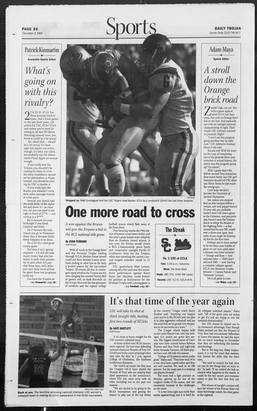 Daily Trojan, Vol. 153, No. 67, December 02, 2004