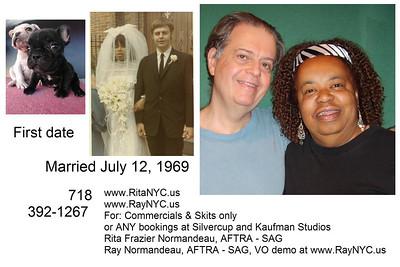 Normandeau, Ray and Rita, wedding anniversary