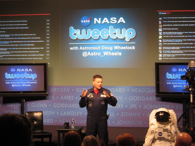 NASA astronaut Doug Wheelock, the first person to check in on Foursquare from space
