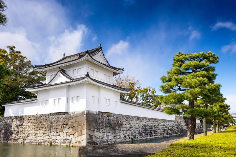 Nijo Castle's outer moat