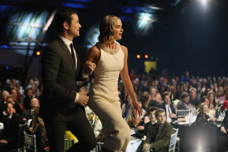 . (L-R) Actors Joseph Gordon-Levitt and Emily Blunt attend the 18th Annual Critics\' Choice Movie Awards held at Barker Hangar on January 10, 2013 in Santa Monica, California.  (Photo by Christopher Polk/Getty Images for BFCA)