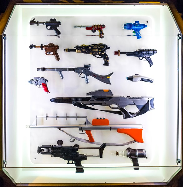 Sci-fi guns at MoPOP museum, Seattle