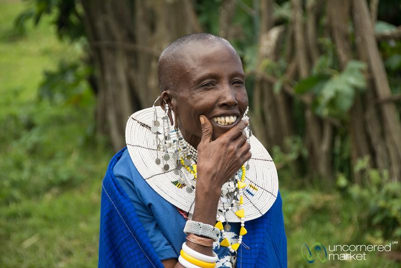 Maasai Woman, Ready for the Party - Tanzania