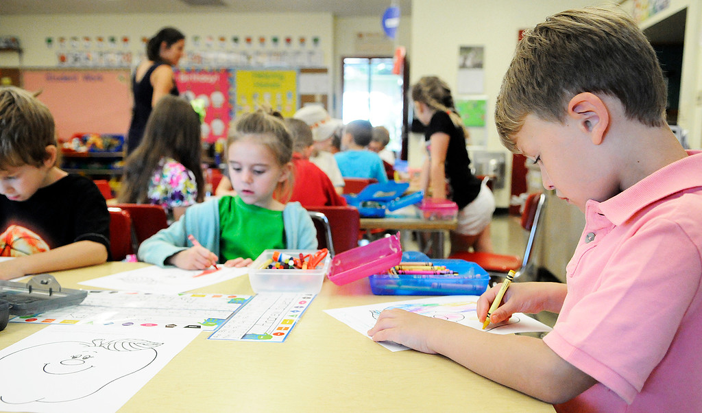 . Ballard Road Elementary School held their first day of classes for South Glens Falls School District Wednesday morning. Saratoga Springs also had their first day of classes.Photo Erica Miller/The Saratogian 9/4/13 news_FirstDay8_Thurs