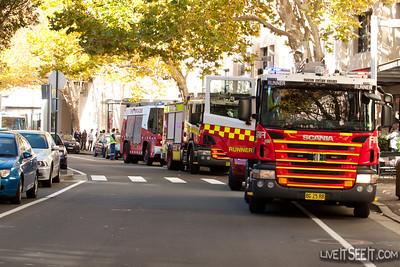 Fire in Shop - The Rocks (Sydney)