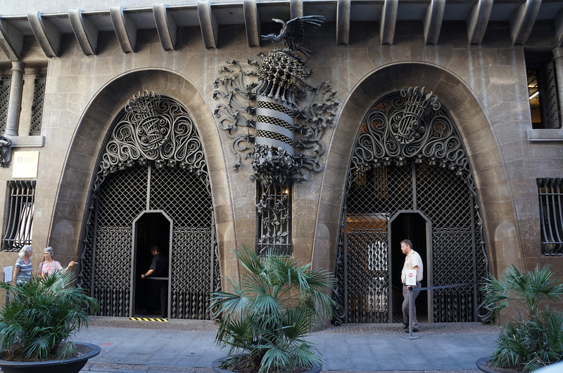The architect Antonio Gaudi had a fortunate meeting with Mr. Guell, who became his patron. Gaudi designed the Palau Guell residence.