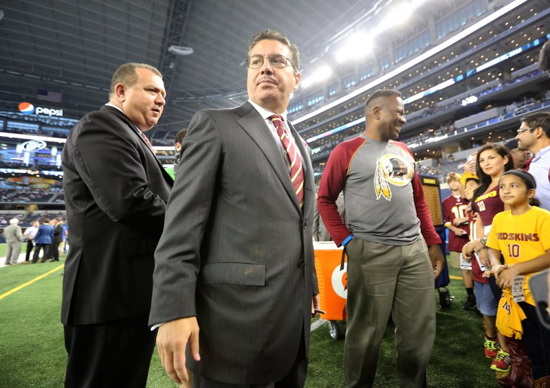 . <p><b> Chargers at Redskins (+1):</b> <p>Oneida Indian Nation leaders met with NFL officials Wednesday and told them the name Redskins is detrimental to the league. Of course, it�s probably no more detrimental to the league than having an officious piece of excrement owning the Redskins. <p>Pick: <b>Redskins by 3</b> <p>    (AP Photo/LM Otero)