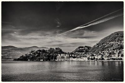 Lake district Near Milan, Italy - 2015 (Monochromoe)