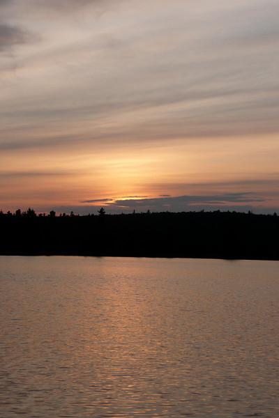 Sunset. Campsite 15-82, lac Jean-Peré, La Vérendrye Wildlife Reserve