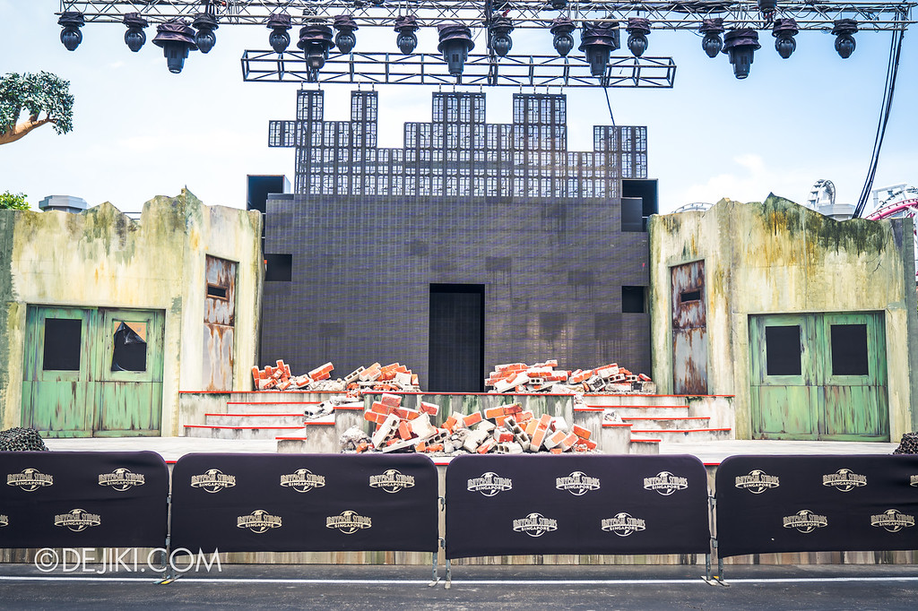 Universal Studios Singapore Halloween Horror Nights 8 construction update / Stage overview