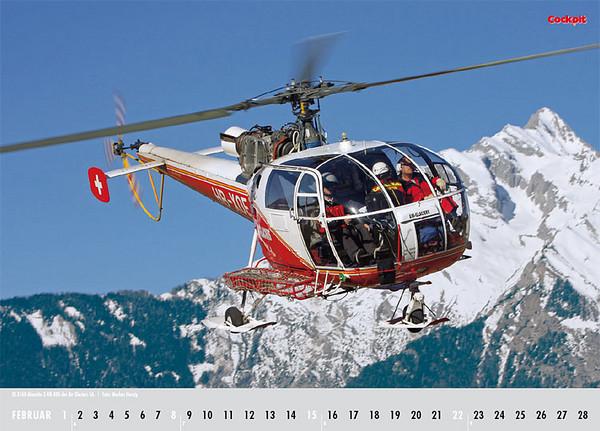 Cockpit Calendar – Rotorworld Feb 2009 - HB-XOE
