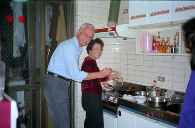 Here is Chef Del san assisting Mrs Fan with her dinner preparations.