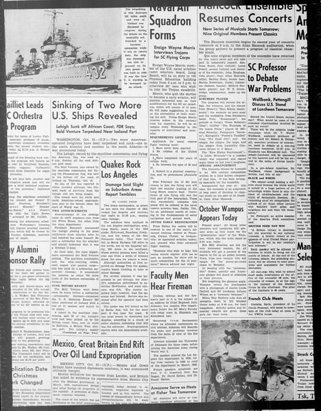 Daily Trojan, Vol. 33, No. 26, October 16, 1941