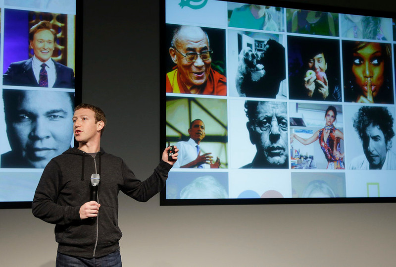 . Facebook CEO Mark Zuckerberg speaks at Facebook headquarters in Menlo Park, Calif., Thursday, March 7, 2013. Zuckerberg on Thursday unveiled a new look for the social network\'s News Feed, the place where its 1 billion users congregate to see what\'s happening with their friends, family and favorite businesses.  (AP Photo/Jeff Chiu)