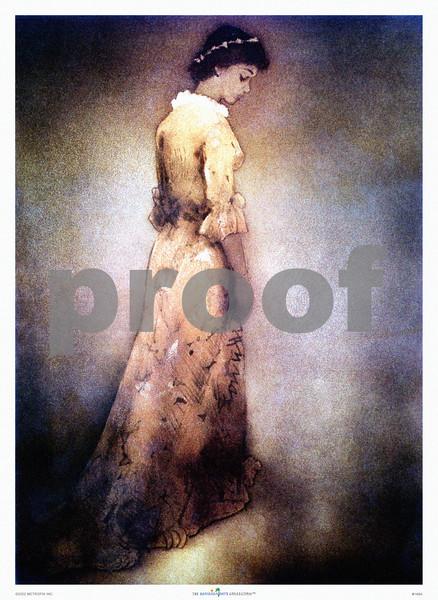 148: John Kelly: 'Hawaiian Woman' Print of aquatint etching produced for Royal Hawaiian Hotel menu cover, ca 1945. (PROOF watermark will not appear on your print)