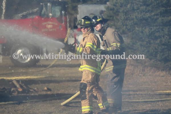 3/13/20 - Onondaga log pile fire, 2800 Gould Rd
