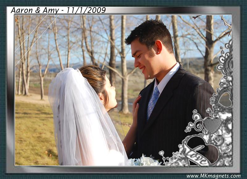 wedding magnet frame - elegant black and white.jpg