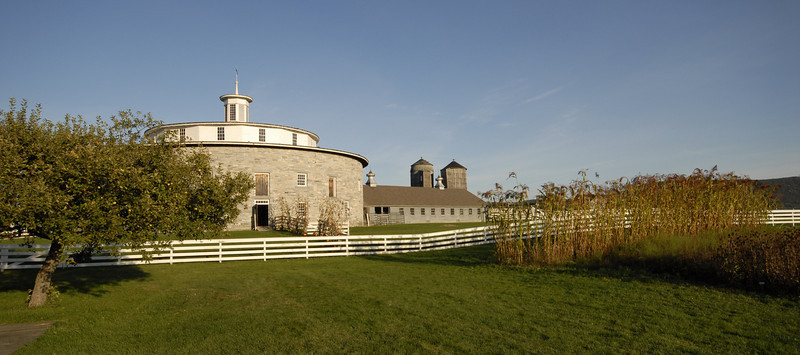 Shaker round barn Hancock, MA