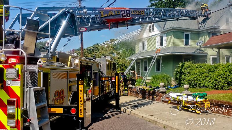 8-26-2018 - (Gloucester County) - PITMAN - 57 N. Oak Ave. - 4th Alarm Dwelling