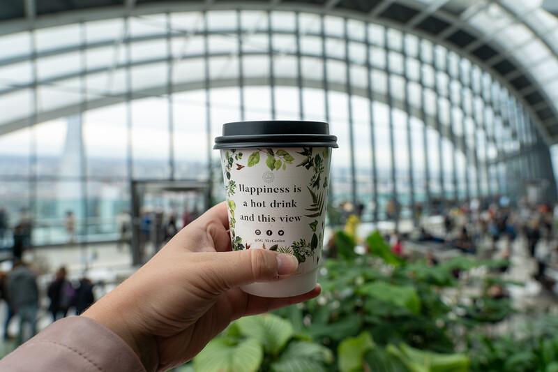 Coffee inside the Sky Garden