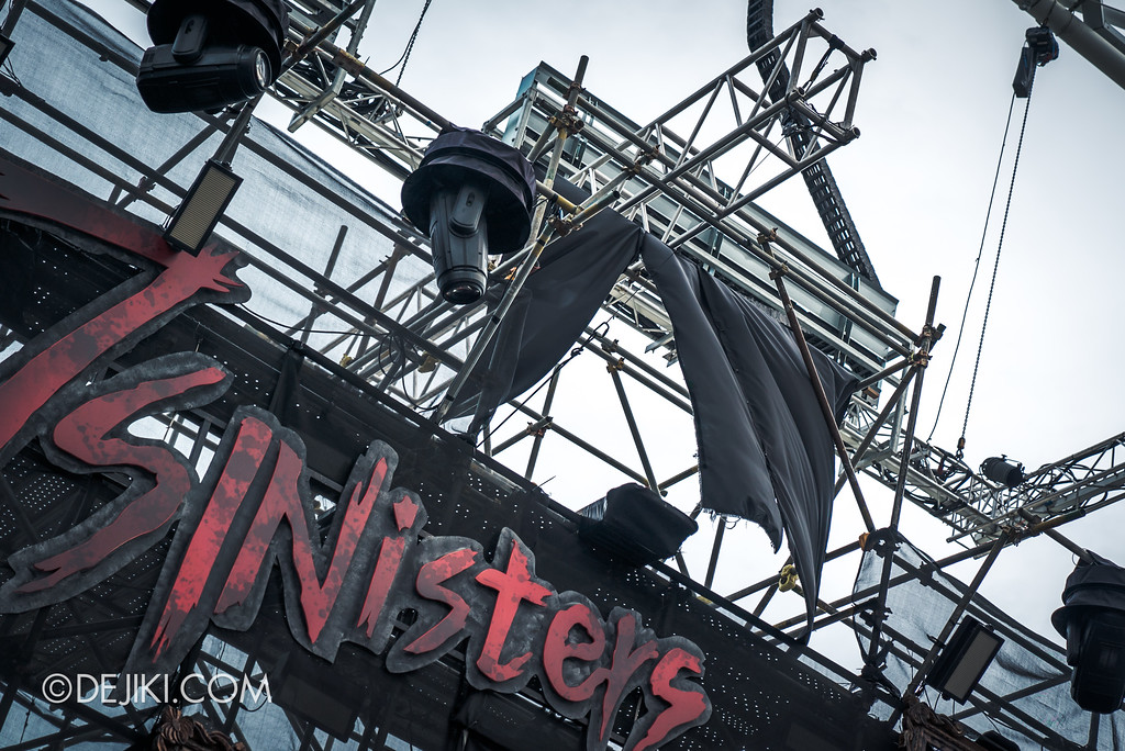 Halloween Horror Nights 7 Before Dark 5 Construction Preview - 7SINisters Stage Aerial System