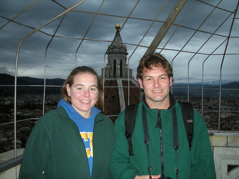 Jon Deutsch and Cheryl at the top of the tower.