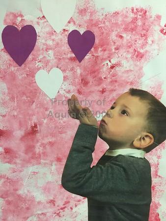 valentine's day art . 2.14.18