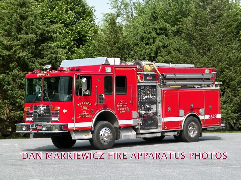 WITMER FIRE PROTECTIVE ASSN. ENGINE 62-1 1999 HME/NEW LEXINGTON PUMPER