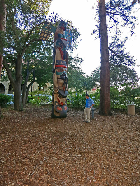 Yuval and Totem on Stanford Campus