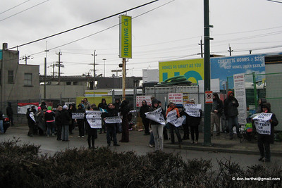2012-03-12 Protest at HQ, Marpole Midden