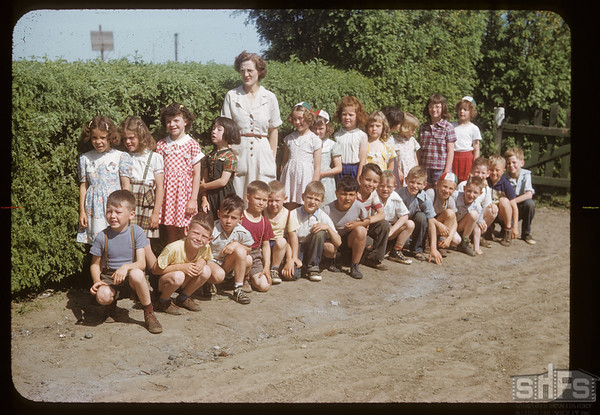 Mrs. Charles Spencer and primary class. Aneroid. 06/12/1999