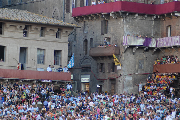 Siena before Palio - August, 2007