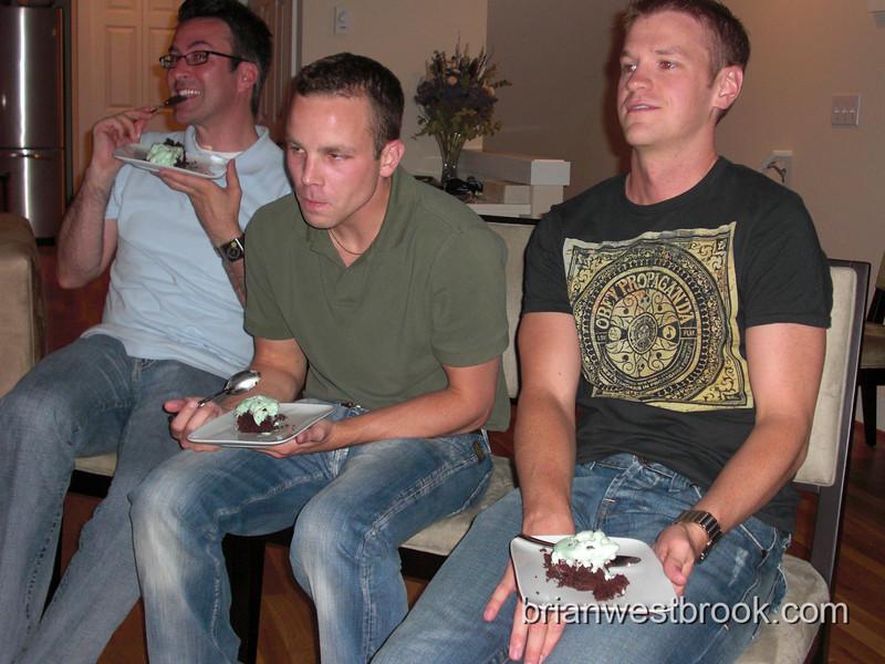 Greg, Brett, Justina...