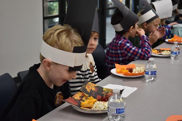 Kindergarten and First Grade Thanksgiving Feast