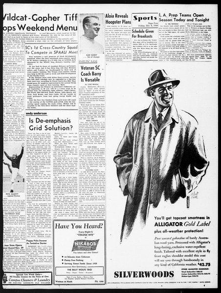 Daily Trojan, Vol. 40, No. 20, October 08, 1948