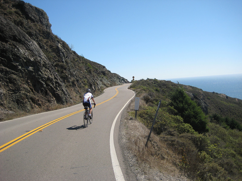 Climbing Hwy 1 out of Stinson Beach...