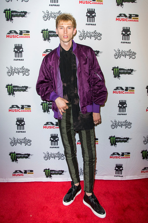 . Machine Gun Kelly seen at 2017 Alternative Press Music Awards at the KeyBank State Theatre on Monday, July 17, 2017, in Cleveland. (Photo by Amy Harris/Invision/AP)
