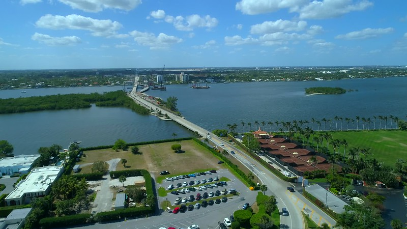 Aerial video Lake Worth Palm Beach Florida