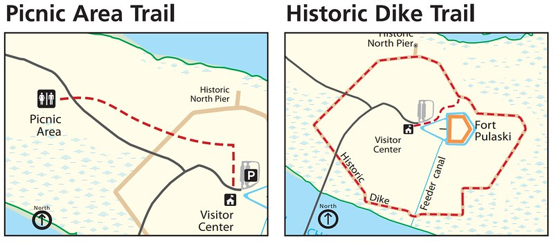 Fort Pulaski National Monument (Picnic Area & Historic Dyke Trails)