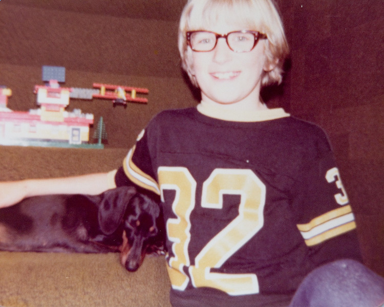 Peanut and I around 1975.