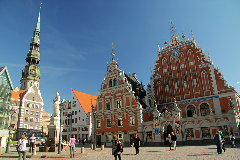 Town Hall Square (Ratslaukums) in Old Town -Riga, Latvia