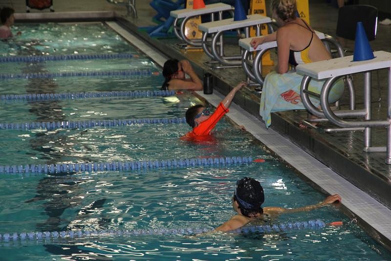 Aaron's swim lesson