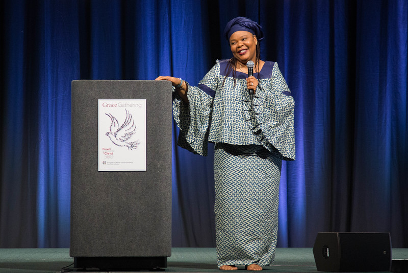 Grace Gathering. Keynote Speaker Leymah Gbowee.