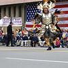 Philadelphia mummers at Lexington Patriot's Day Parade.